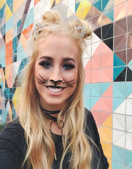 Marika has some fun with SeneGence makeup to create a face painted cat for a SeneGence gathering.